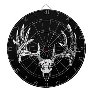 Whitetail deer skull w dartboard with darts