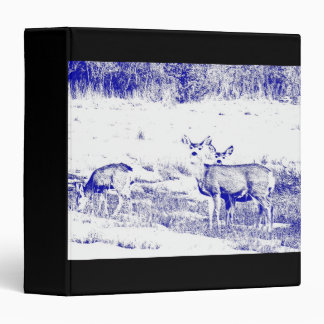 Whitetail Deer Wildlife Animals Fawns 3 Ring Binders