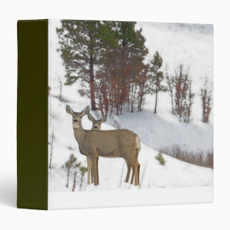 Whitetail Deer Wildlife Animals Fawns Vinyl Binders