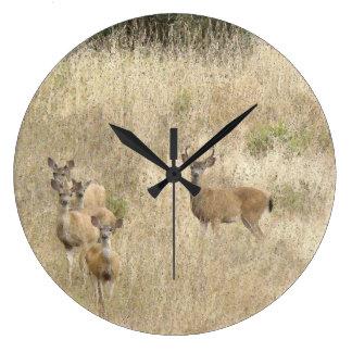 Whitetail Deer Wildlife Animals Fawns Wallclock