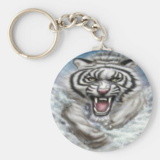 WhiteTiger key chain/key supporter Keychain