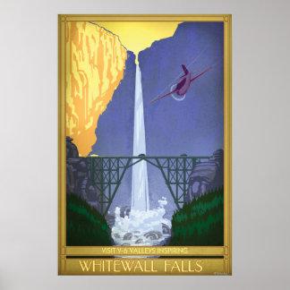 Whitewall Falls Illustration Poster
