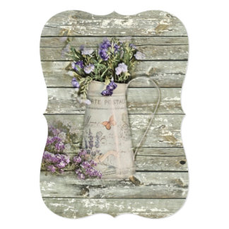 whitewashed barn wood farmhouse summer lavender card