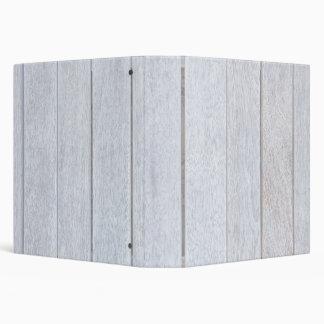 Whitewashed Old Weathered Wood Background Wooden 3 Ring Binder