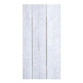 Whitewashed Old Weathered Wood Background Wooden Photo Card