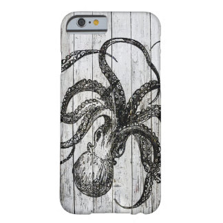 Whitewashed Wood and Octopus Barely There iPhone 6 Case