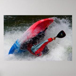Whitewater Kayak Photo  Poster