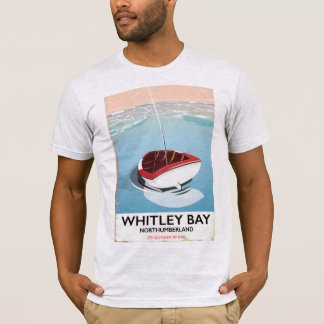 Whitley Bay Northumberland vintage travel poster T-Shirt
