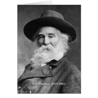 Whitman ❝Celebrate Myself, and Sing Myself❞ Poem Card