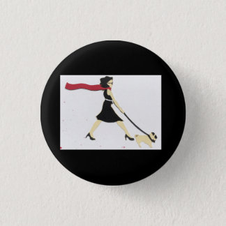 Whitney and Daisy, on a button! 1 Inch Round Button