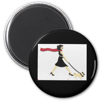 Whitney and Daisy, on a magnet! Magnet