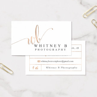 Whitney B Photography Business Card