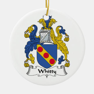 Whitty Family Crest Ceramic Ornament