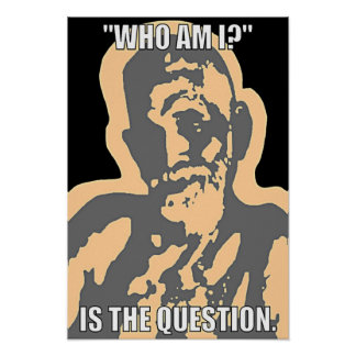 """""""Who Am I?"""" Poster"""