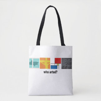 Who Arted? tote bag