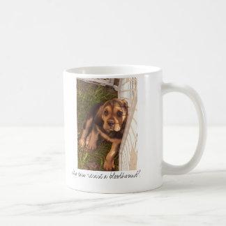 Who can resist a bloodhound? coffee mug