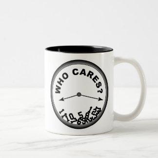 Who Cares Clock - Mug