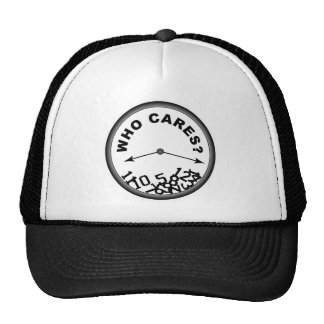 Who Cares Clock Trucker Hat