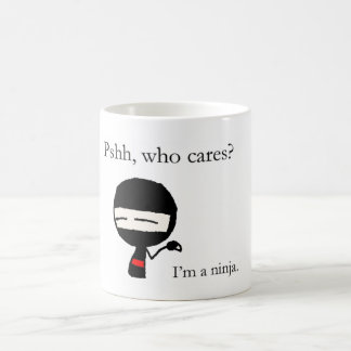 Who cares? coffee mug