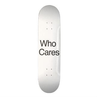 Who Cares Skate Board Decks