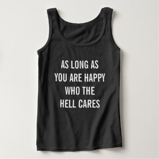 WHO CARES TANK TOP