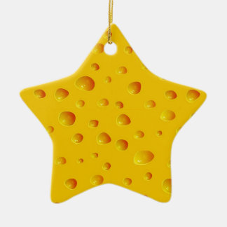 WHO CUT THE CHEESE! ~v.2~ Ceramic Star Ornament