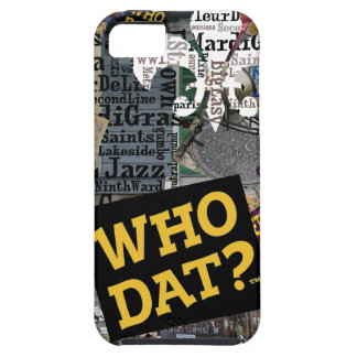 Who Dat? Collage Art  iphone5 Covers