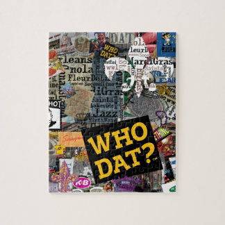 WHO DAT Collage Art Jigsaw Puzzle