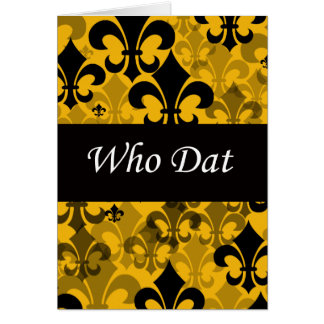 Who Dat Fleur de Lis Card