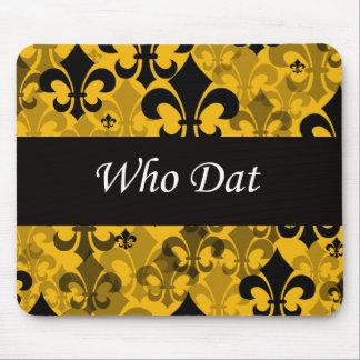 """Who Dat """"Fleur de Lis"""" Mousepad"""