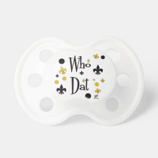 Who Dat t-shirts Pacifier