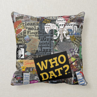 Who Dat t-shirts Throw Pillow