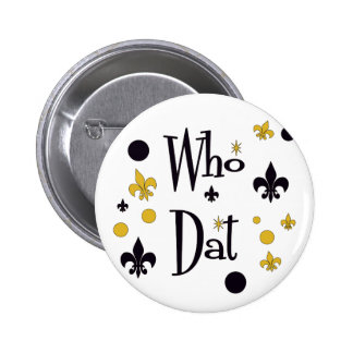 Who Dat's FUN in Black & Gold Buttons