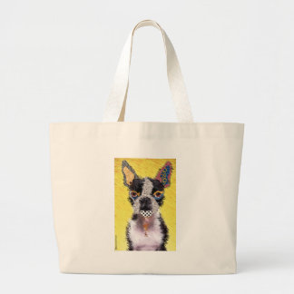 Who does not love Bulldog? Large Tote Bag