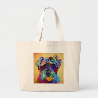 Who does not love schanuzer? large tote bag