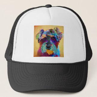 Who does not love schanuzer? trucker hat