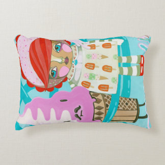 Who doesn't like Ice Cream and Conjoined Twins Decorative Pillow