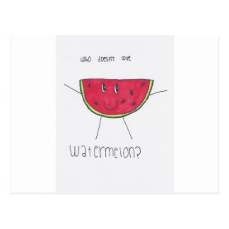 Who doesn't love WATERMELON? Postcard