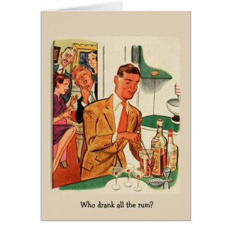 Who Drank All the Rum?, Card