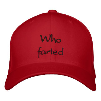 Who farted embroidered hat