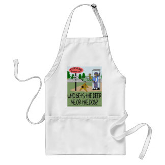 Who Gets the Deer...Me or the Dog? Standard Apron
