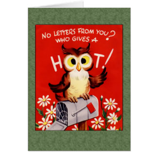 Who Gives a Hoot Greetings Card