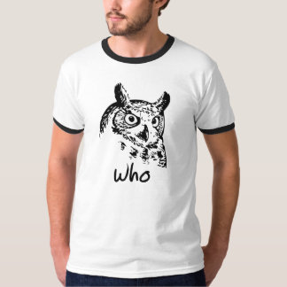 Who Hoo Hoot Owl. Bird of Prey. T-Shirt