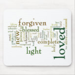 Who I am in Christ Light Colours Mouse Pad