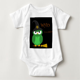 Who is a witch? - green baby bodysuit