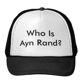 Who Is Ayn Rand? Trucker Hat