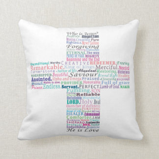 Who is Jesus Throw Pillow