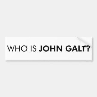 Who Is John Galt? The Question Bumper Sticker