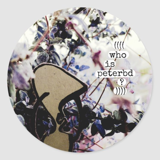 who is peterbd classic round sticker