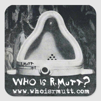 "Who is R. Mutt ""Fontaine"" Sticker"
